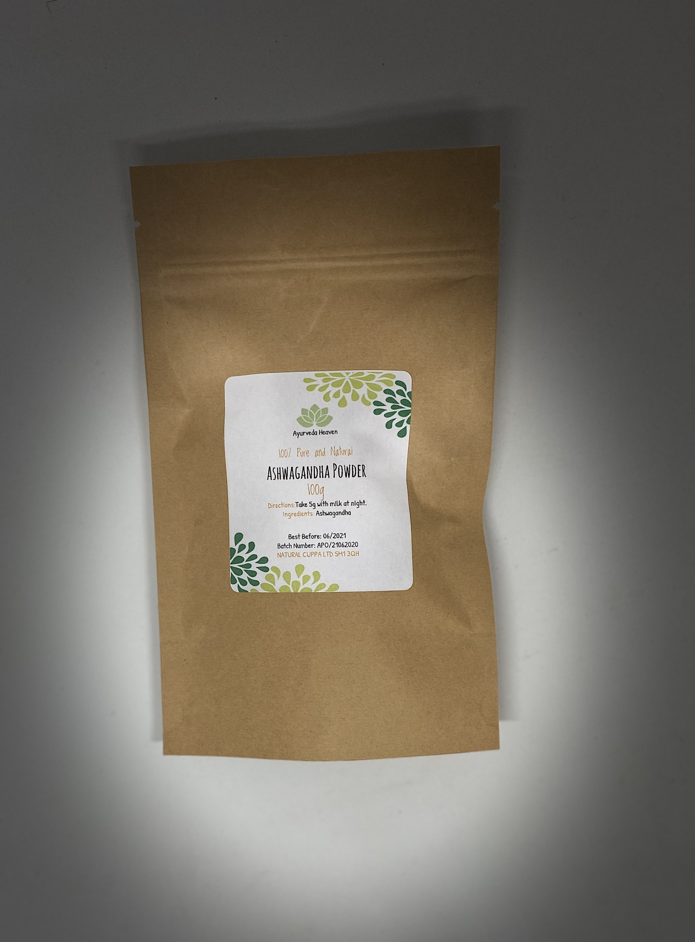 Pure Ashwagandha Powder 100g